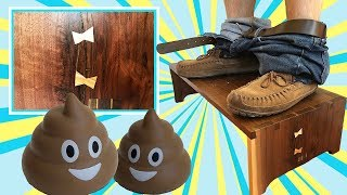 Poop In Under Turdy Seconds With a Homemade Stool