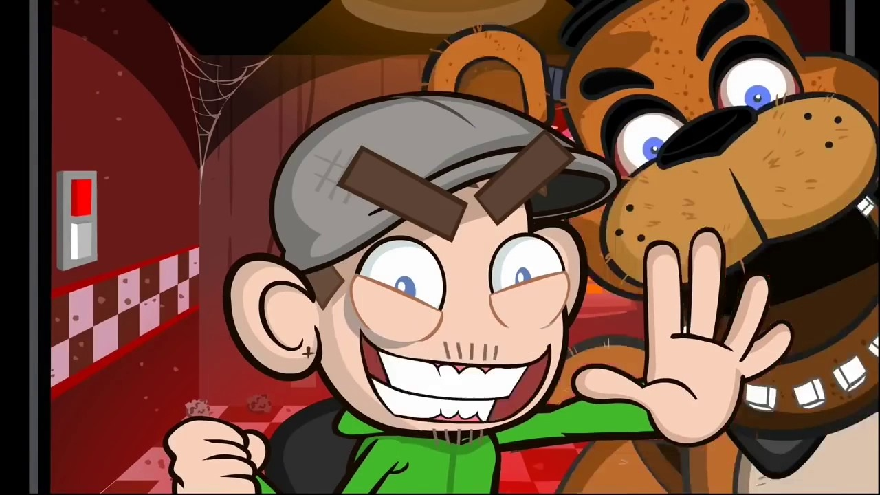Jacksepticeye Fnaf 1,2,3,4, Sister Location, TJOCR, and Fnaf Animated Jumpscares and Funny Montage