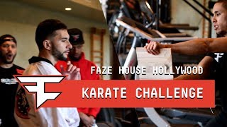 FaZe House Hollywood: Breaking Boards with Sensei