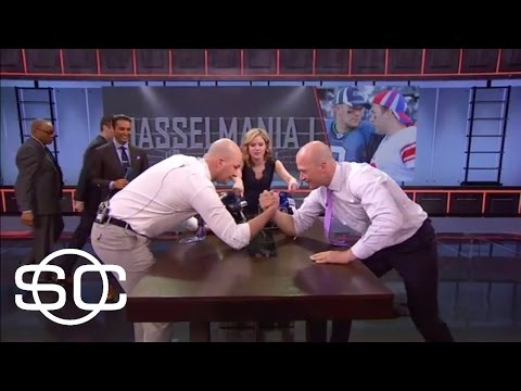 Hasselbeck Brothers Arm Wrestle | SportsCenter | ESPN