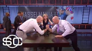 Hasselbeck brothers arm wrestle | SportsCenter | March 30, 2017