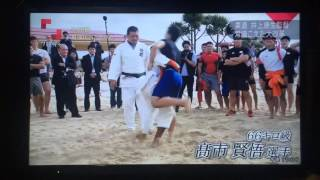Judo national team of Japan meets Okinawa sumo.