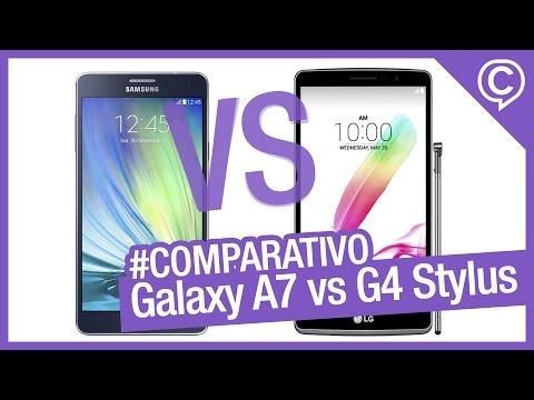 Comparativo Rápido Samsung Galaxy A7 vs LG G4 Stylus