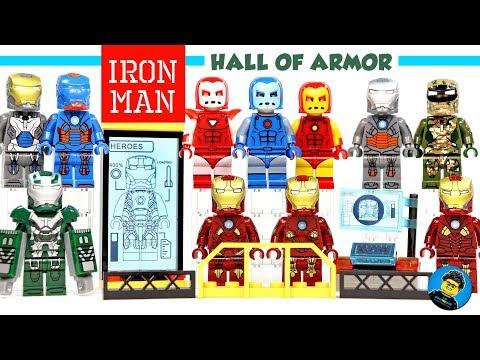 Iron Man Minifigure Frost Tony Stark Military Figure for CUSTOM Lego Minifigures