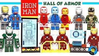 Lego Iron Man Silver Centurion & New Mark 13 Stealth Iron Man Hall of Armor Unofficial Minifigures