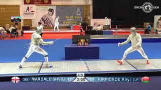 Novi Sad European Championships 2018 Day06 T16 MS BLR vs GEO