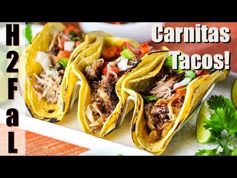 Mexican Cuisine | CARNITAS (SHREDDED PORK) TACOS | How To Feed A Loon
