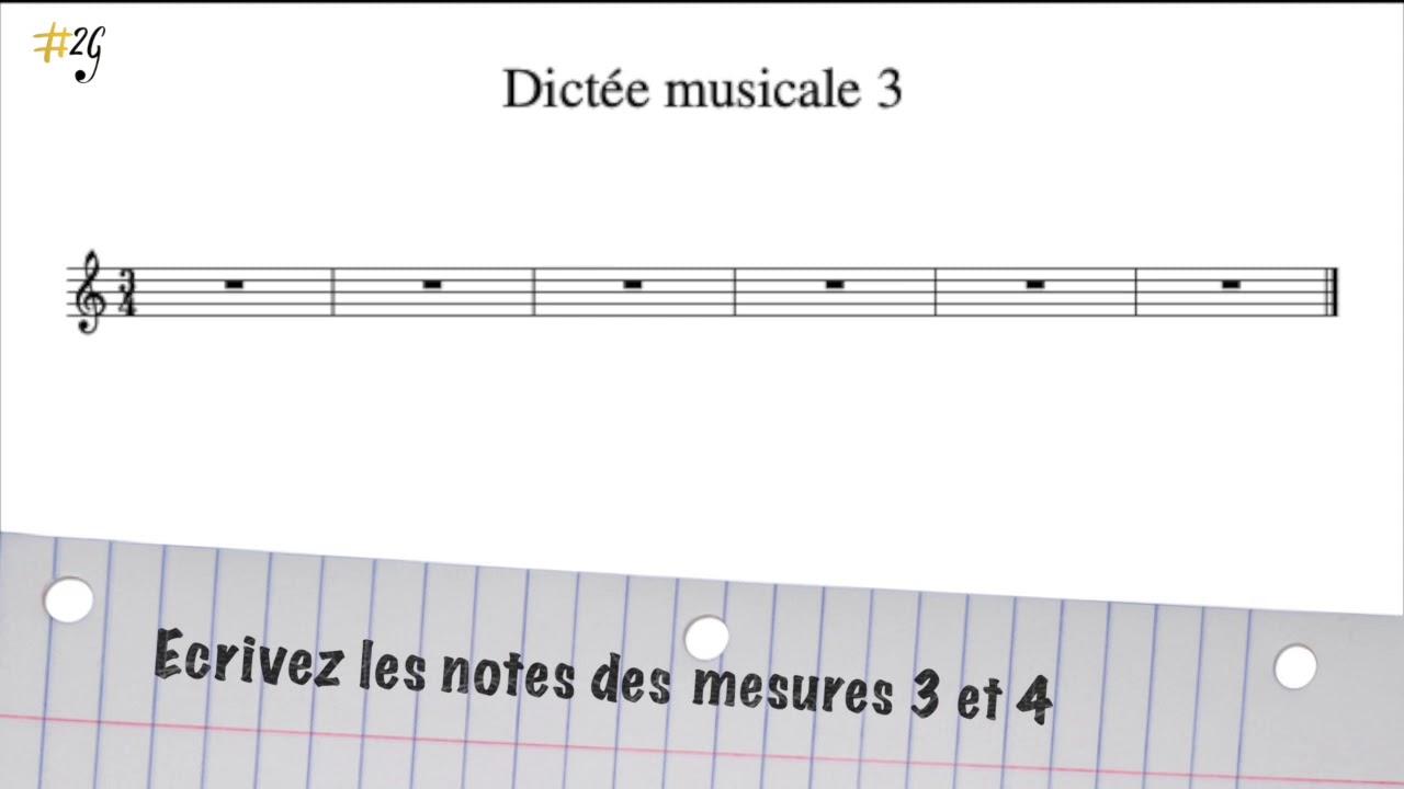 Dictée musicale débutant 3