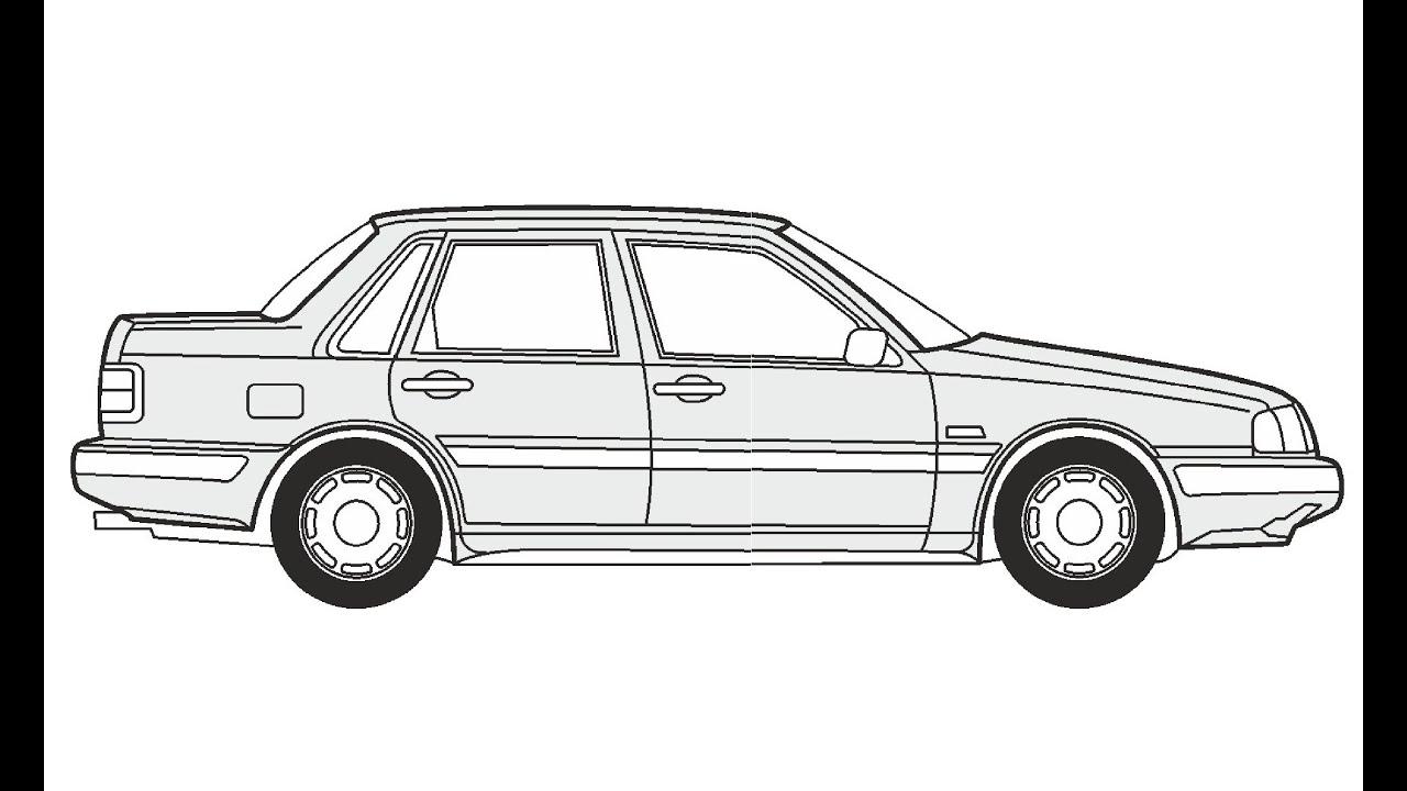 How to Draw a Volvo 440/460 / Как нарисовать Volvo 440/460