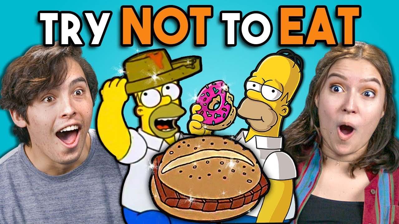 Try Not To Eat Challenge - Simpsons Food | People Vs. Food