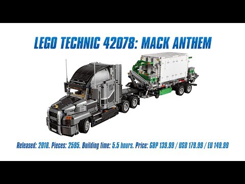 LEGO Technic 42078: Mack Anthem In-depth Review & Speed Build [4K]