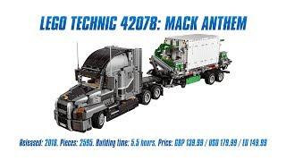LEGO Technic 42078: Mack Anthem In-depth Review & Speed Build [4K]