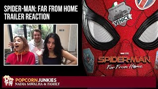 SPIDER-MAN: FAR FROM HOME (Official Teaser Trailer) Nadia Sawalha & The Popcorn Junkies Reaction