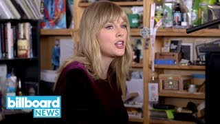 Gambar cover Taylor Swift Steals Our Hearts While Performing 'Lover' on NPR Tiny Desk | Billboard News