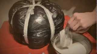 DIY Paper Mache Pumpkin Halloween How-to