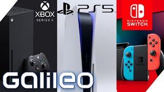 Playstation 5, Xbox Series X oder Nintendo Switch? Wer gewinnt das Konsolenbattle? | Galileo