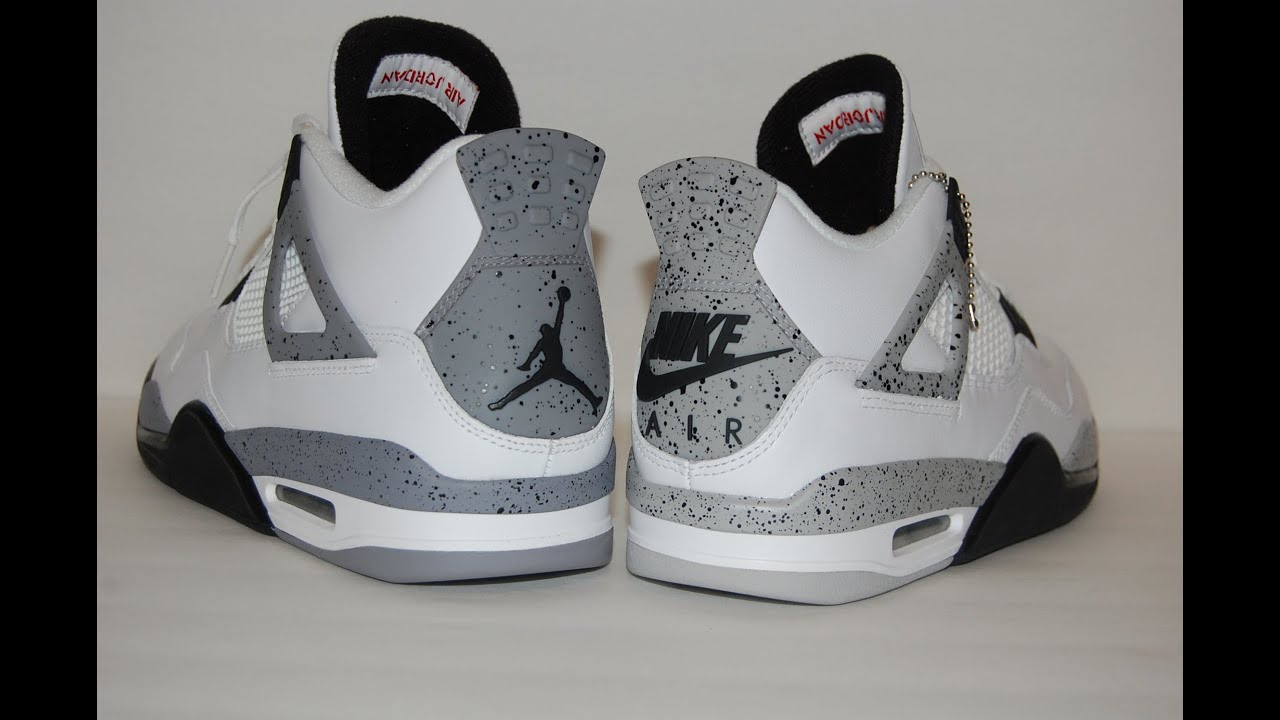 0144868443f0 Comparison  2016 vs 2012 Air Jordan 4 White Cement - YouTube
