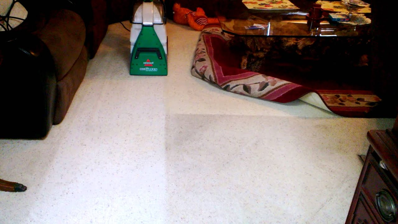 Nice Cleaning The Living Room With The Bissell Big Green Deep Cleaning Machine    YouTube