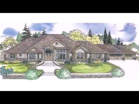 European Style One Story House Plans