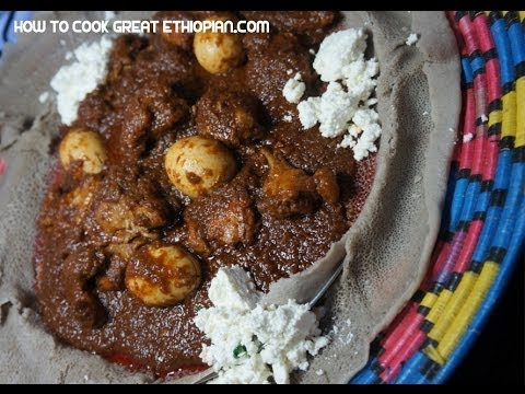 Doro Wat Recipe In English  - Ethiopian cooking Spicy Chicken Stew wot wet