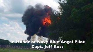 Fatal Blue Angels Crash - F18 Pilot Capt Jeff Kuss Honor Flight Smyrna TN Taps Missing Man Formation