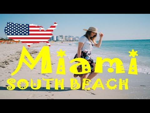 (HD1702) 6 minutes in South Beach, Ocean Drive, Miami, Florida, USA - Trip