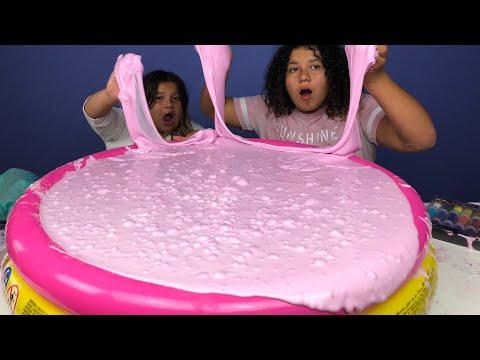 Super Fluffy Pool Full Of DIY Slime