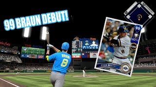 99 RYAN BRAUN DEBUT! Mr. Banana With Another Multiple HR Game! - MLB The Show 17 Diamond Dynasty