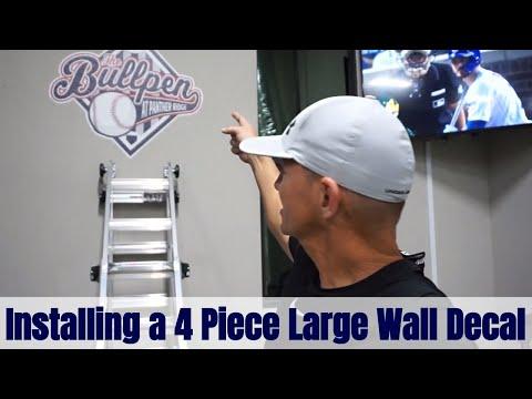 Installing A 4 Piece Custom Vinyl Wall Decal | Roland Versacamm