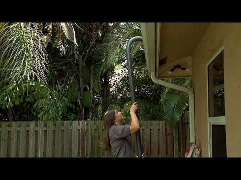 DIY Gutter Cleaning. No Ladders Required!