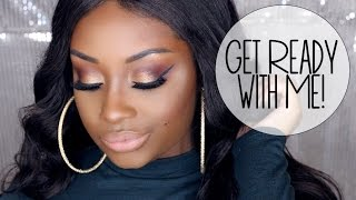 Get Ready with Me | Plum & Gold Eyes + Nude Lips | Makeupd0ll