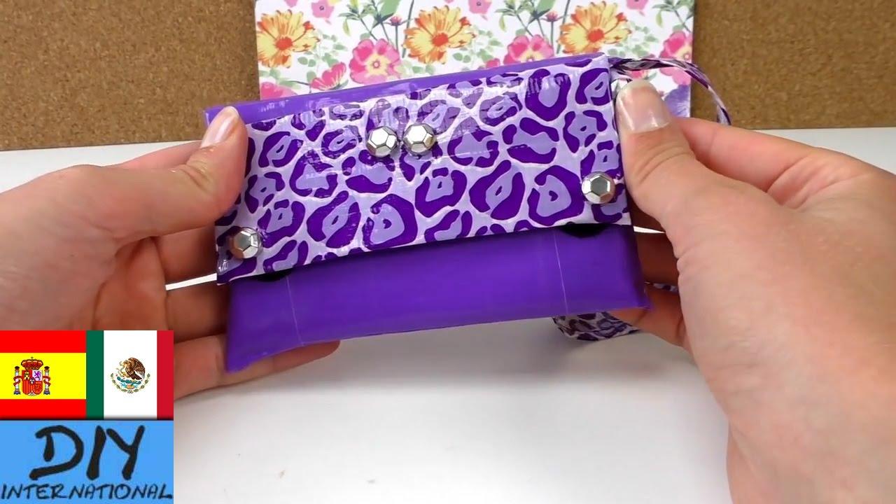 Bolsito de mano hecho con cinta adhesiva manualidades - Manualidades faciles de hacer en casa ...