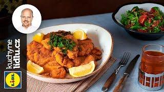 Marinované kuřecí řízky s polníčkovým salátem - Roman Paulus - RECEPTY KUCHYNĚ LIDLU