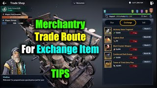 Black Desert Mobile Merchantry Trade Route For Exchange Items Tips