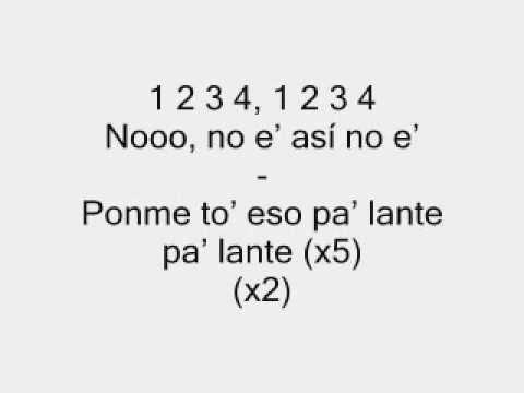 El chuape-Ponme to eso pa`lante (con letras 2012)