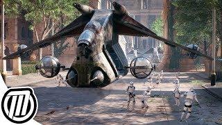 Star Wars Battlefront 2 Clone Army Gameplay | ATRT, Jumptrooper, N1 Starfighter, V-Wing (CLONE WARS)