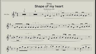 Sting - Shape of my heart (Backing track & sheet music for saxophone) Gmoll