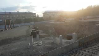 Заливка бетона стадион Енисей. КРАСНОЯРСК