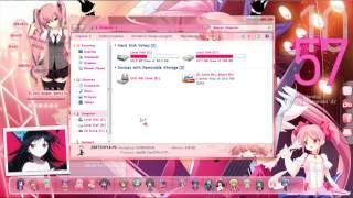 My Windows 7 Anime Desktop Theme/Rainmeter/Rocketdock