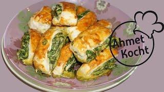 Blätterteig mit Spinat & Ei | AhmetKocht | kochen | Folge 196