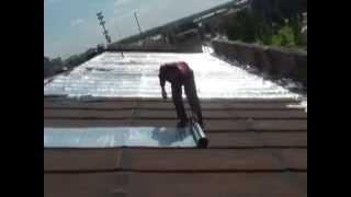 Смотреть видео течет железная крыша гаража