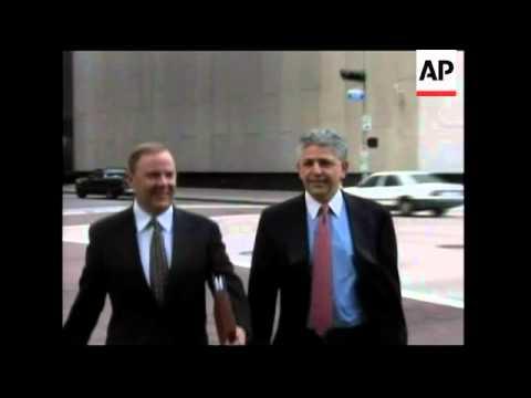 Former CEO of Enron Jeffrey Skilling arrives to testify