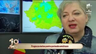 Prognoza meteo pentru perioada următoare. Directorul ANM, Florinela Georgescu: Plouă puternic
