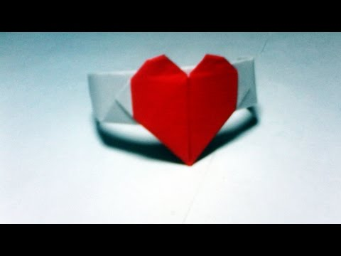 How to Make Origami Valentine Love Heart Ring – New- Easy