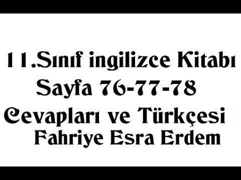 11.Sınıf İngilizce Ders Kitabı Sayfa 76-77-78 Cevapları ve Türkçesi MEB 2019