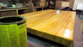 Журнальный столик, обработка маслом.(Вариант отделки готового столика., 2015-03-20T20:47:06.000Z)