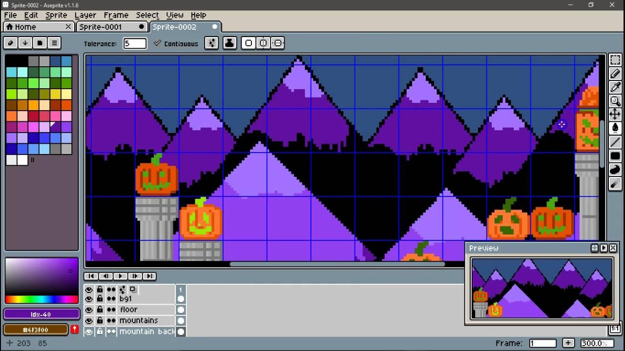 PixelArt NES-ish Pumpkin Art Time Lapse in Aseprite by DrinkingNails