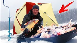 видео Зимняя рыбалка в Сибири » Я Рыболов