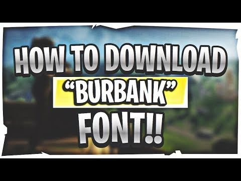 """How To Download """"Burbank"""" Font!! - IOS & Android Tutorial"""