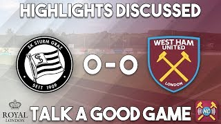 Video Gol Pertandingan Sturm Graz II vs West Ham United